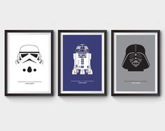 STAR WARS - collection of 3 posters, movie, film poster, star wars, darth vader, r2d2, stormtrooper, geekery, minimalist movie poster, geek by ArchiveFilmPosters on Etsy https://www.etsy.com/listing/181980638/star-wars-collection-of-3-posters-movie