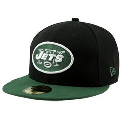 NFL New York Jets Black and Team Color 59Fifty Fitted Cap by New Era. $14.14. Show Your Team Spirit with This National Football League 59Fifty Fitted Cap. Features An Embroidered (Raised) Team Logo At Front, A Stitched New Era Flag At Wearer'S Left Side. Interior Includes Branded Taping and A Moisture Absorbing Sweatband. Fitted, Closed Back.
