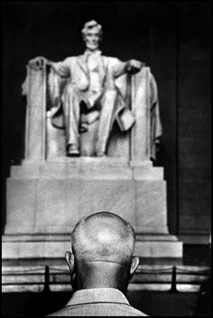 Burt Glinn, the soviet leader nikita khrushchev in front of the lincoln memorial, washington d.c., usa, 1959