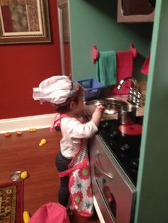 Chief Lily cooking at her kitchen.