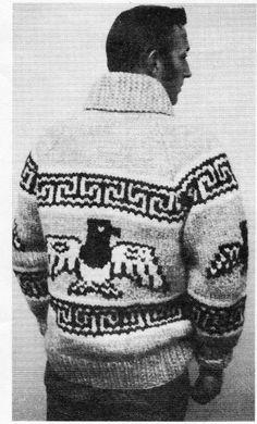 Cowichan Sweater White Buffalo Wool Men's by KilbellaVintage
