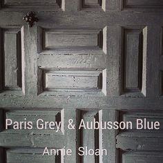 Chalk Paint by Annie Sloan, Paris Grey & Aubusson Blue Annie Sloan Painted Furniture, Annie Sloan Chalk Paint, Paint Furniture, Furniture Ideas, Distressing Chalk Paint, Gray Chalk Paint, Chalk Painting, Chalk Paint Projects, Art Projects