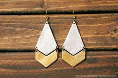 Anthropologie-Inspired Diamond and Arrow Earrings