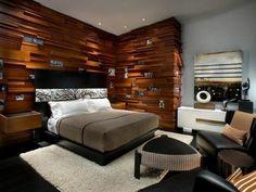 Holzwand Holzverkeidung Schlafzimmer Ideen Geometrie | Wanddekoration    Interior Wallpapers   Farben Und Coole Tapetenmuster | Pinterest