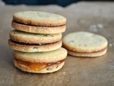 cornmeal & basil cookies