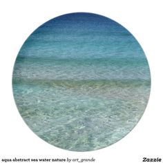 aqua abstract sea water nature dinner plate