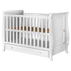 Detalii+Patut+copii+din+lemn+Hubners+Mira+120x60+cm+cu+sertar+Caracteristici:++Patutul+pentru+copii+Mira+cu+un+design+atractiv+si+modern+isi+va+indeplini+perfect+rolul+de+spatiu+sigur,+confortabil+si+protector,... Best Changing Table, Baby Blog, Baby Cribs, Modern, Furniture, Design, Home Decor, Playmobil, Trendy Tree