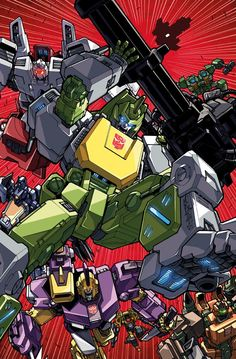 Transformers News: IDW Transformers: Sins of the Wreckers Clean Alex Milne/Josh Perez Cover Art