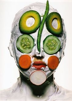 >>> Irving Penn vegetable mask | US Vogue January 1996