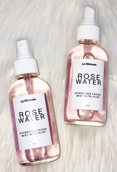 Our Rose Water Hydrating Facial Mist with Aloe will sooth and refresh your skin one spray at a time. Great for all skin types. Everything we create contains the finest all-natural ingred water makeup : Beauté et Parfum Skin Care Regimen, Skin Care Tips, Skin Care Products, Free Products, Natural Skin Products, Body Products, Glowing Skin Products, Makeup Products, Facial Products