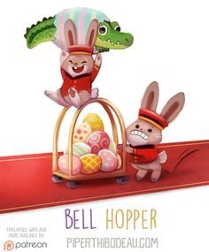 Daily Paint 1606. Bell Hopper by Cryptid-Creations