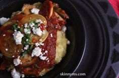 Baked Ratatouille with Goat Cheese Polenta