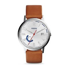 Vintage Muse Multifunction Tan Leather Watch