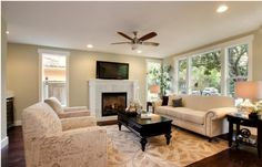 Fireplace Mantel color and marble tile surround