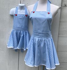 Dorthy Aprons  Mommy and Me Matching Aprons Halloween Aprons
