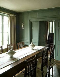Metropolitan Musings: Green Rooms - love love love this paneling painted this color