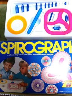 Spirograph Games By Kenner Toy 1970's crafty artist game. $24.00, via Etsy.    I had this exact set!