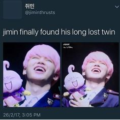 """2,334 Likes, 13 Comments - ✧⁘☽ spam @http.mochimin ☾⁘✧ (@pandawithnojams) on Instagram: """"i love when they make a doll based off of jimin"""""""
