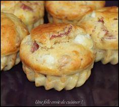 Muffins au bacon et chèvre -