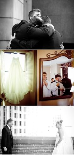 dress. boys getting ready. man-hug. father/daughter. :) Photography by: Amanda Hein Photography