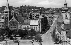 Stalinovo nám. a Kalvínsky kostol Bratislava, Old Photos, Paris Skyline, Milan, Travel, Times, Cinema, Old Pictures, Viajes