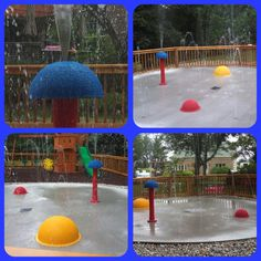 Crawford, Indiana My Splash Pad residential splash park installation! A great sensory splash pad with the Spray Bumps and the Sensory Mini-Mushroom. combining touch sensory and water for a fun splash pad!! #splashpad #mysplashpad #residentialsplashpad #sensory #sensorywithwater #safefun #madeinAmerica