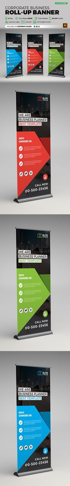 Corporate Business Roll-up Banner  @creativework247