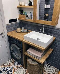 Mold In Bathroom, Small Bathroom Storage, Bathroom Design Small, Laundry In Bathroom, Bathroom Interior Design, Bathroom Mirrors, Storage Spaces, Bathtub, Diy Bathroom Remodel