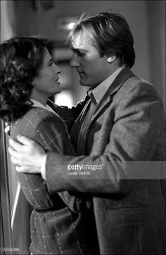 Film 'La Femme d'a cote' directed by Francois Truffaut,with G.Depardieu and F.Ardant In France In June, 1981 - Gerard Depardieu and Fanny Ardant.
