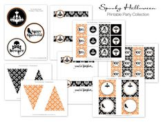 Spooky Halloween Printable Party Collection - The TomKat Studio. $12.50, via Etsy.