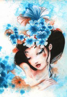 misstigri   Puzzle Misstigri : Blue Flowers Grafika-01322 3900 pièces Puzzles ...