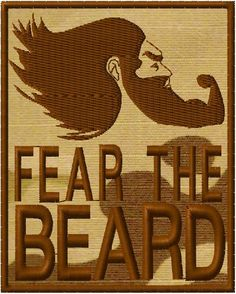 OMLpatches.com - FEAR THE BEARD 2 MORALE PATCH, $6.50 (http://www.omlpatches.com/fear-the-beard-2-morale-patch/)