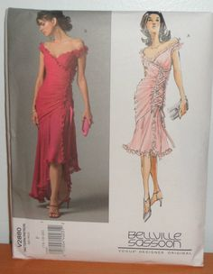 Vogue Size 16 18 20 Tango Dance Evening Gown Dress New Pattern V2880 | eBay