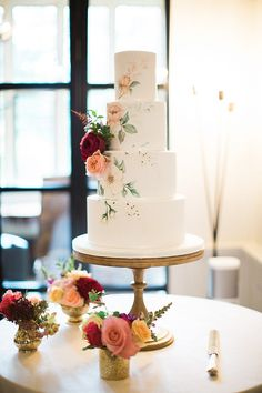 Hand Panted Wedding Cake by Curtis & Co Cakes | Paperknots Wedding Stationery | Jacob & Pauline Photography | Pretty in White Films