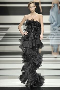 Elie Saab Fall 2008 Ready-to-Wear Fashion Show - Michaela Kocianova (Elite)
