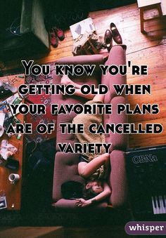 You know you're getting old when your favorite plans are of the cancelled variety