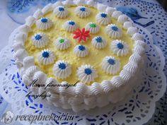 Tejszínhabos, vaníliakrémes  torta Cake, Food, Food Cakes, Eten, Cakes, Tart, Cookies, Meals, Torte