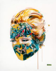"Montreal-based artist Sandra Chevrier creates vibrant mixed media artworks by adding comic book collages to watercolored portraits.  ""Her work takes her traveling over a broad range of fluctuating emotional enigmas and concepts that have set the standard of our modern communication. Working in a home studio, Sandra produces her work at a full-time scale, aggressively pursuing a common thread until it is worn away, leaving her to begin on a new path.  She exposes the limitations within ou..."
