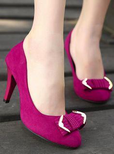 f6bf86fae1 Pink high heels Zapatos Púrpura, Lila, Zapatos Rosados De Tacón Alto,  Zapatos De