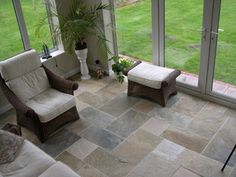 Slate floor tile - eclectic - floor tiles - by travertine-floors-travertine-flooring.com
