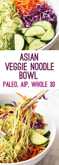 Asian Veggie Noodle Bowl | Unbound Wellness