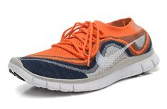 quality design 8b0a5 82829 Mens Original Nike Free Flyknit+ 5 Laser Orange Midnight Navy Wolf Grey  Nike Flyknit Lunar 3