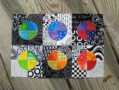 """I've been wondering what to do with my B & W fabric - this is it! Even though I have already made two Drunkards Path quilts. I love it!! I would use the Inklingo 4"""" - or maybe even the 6"""" for a quick quilt."""
