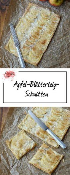 Apfel-Blätterteig-Schnitten   Kuchen   Backen   Schnell