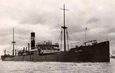 SS Kalliopi was a Greek Cargo Streamer of 4,965 tons built in 1910. Built as Himalaia, 1920 renamed Kermanshah, 1922 renamed Oceana, 1927 renamed Nymphe, 1928 renamed Kalliopi  On the 7th February 1943 when on route from ST JOHN (N.B.) & HALIFAX for LONDON in Convoy SC-118 and carrying a cargo of 6,500 tons of steel & lumber she was torpedoed by German submarine U-402 and sunk. 4 crew lost from a total of 36