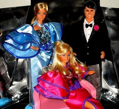 1982 Dream Date Barbie, P.J. and Ken - these made me laugh because I had one and my sister had the other and neither of us ever got Ken!
