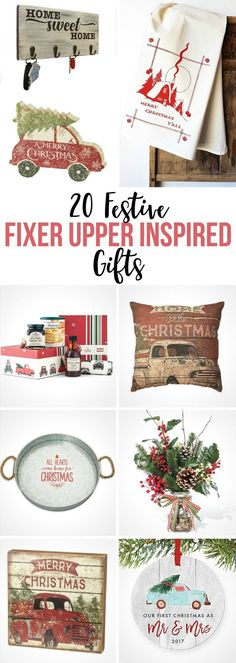 Modern Country Gifts to Give for Christmas and the holiday season including ornaments, signs, faux flowers, hand towels and more! gifts | holidays | Christmas | fixer upper | modern farmhouse | rustic | Christmas trees on cars