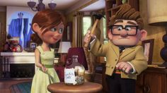 Screencap Gallery for Up Bluray, Pixar). A young Carl Fredrickson meets a young adventure-spirited girl named Ellie. Up Pixar, Disney Pixar Up, Cute Disney, Disney Characters, Walt Disney Pictures, Up Imagenes, Up Carl And Ellie, Up 2009, Up The Movie