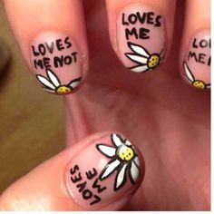 Loves me... Loves Me Not nails. Cute idea.