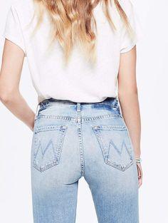 Tomcat - True Confessions - Vintage wash boyfriend jeans from Mother Denim - Dress up with stilettos